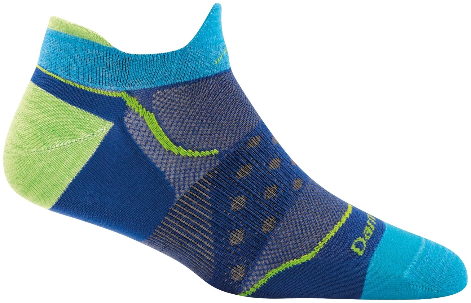 Darn Tough Dot No Show Tab Ultralight Sock - Women's Marine Medium