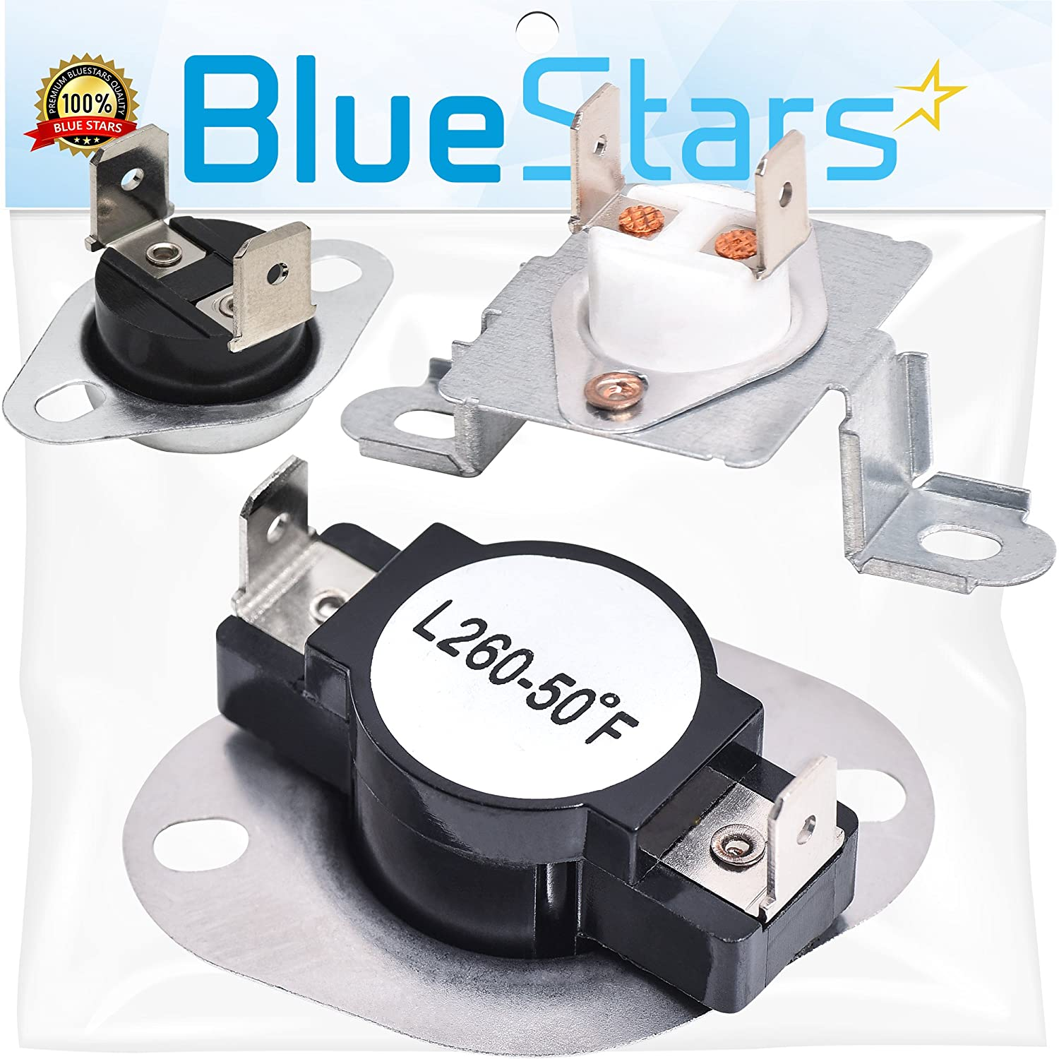 DC96-00887A & DC47-00018A & DC47-00016A Dryer Thermal Fuse and Thermostat Kit Replacement by Blue Stars - Exact Fit For Samsung & Kenmore Dryers