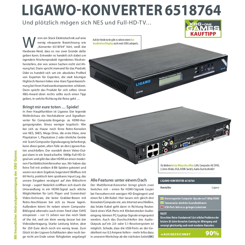 Ligawo 6518764 Multiformat Konverter zu 1080p HDMI +: Amazon.de ...