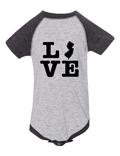 c917500b0 Amazon.com  New Jersey Love Raglan Printed Infant Bodysuit Baby ...