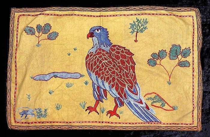 Amazon Uzbek Silk Hand Embroidery Suzani Mythic Bird Eagle From