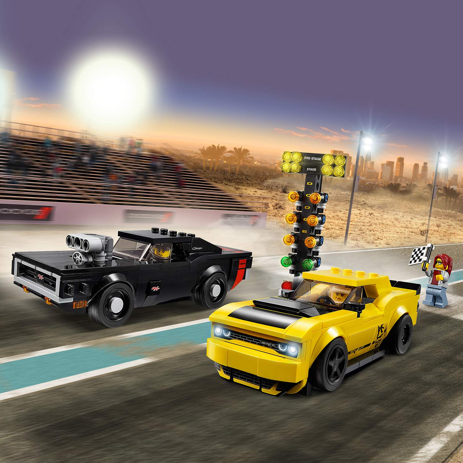 Amazon.com: LEGO Speed Champions - Dodge Challenger SRT Demon de 2018 y Dodge Charger R/T de 1970 (75893): Toys & Games