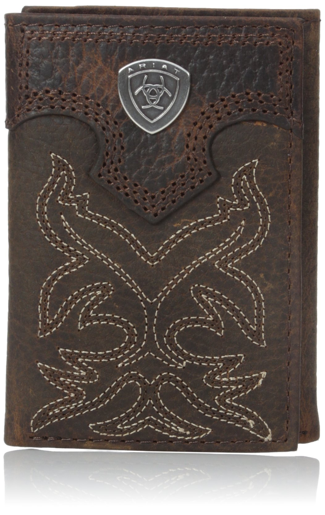 Ariat Men's Boot Embroidery Tri-Fold Brown, One Size