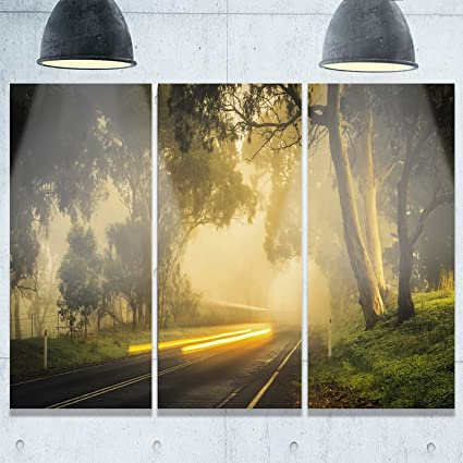 Amazon.com: Designart MT9118-3P country Drive Landscape Photography ...
