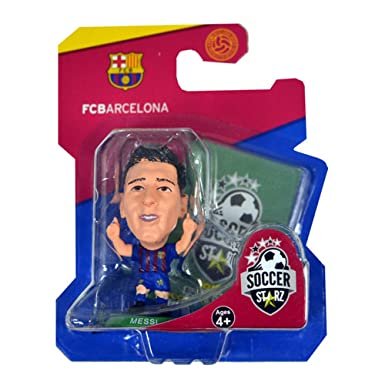 28d71876742 SoccerStarz Lionel Messi FC Barcelona Football Figure (One Size)  (Multicoloured)  Amazon.co.uk  Clothing