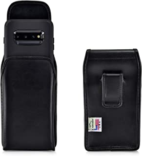 product image for Turtleback Holster Designed forGalaxy S10+ Plus Fits with OB Defender, Vertical Belt Case Black Leather Pouch with Executive Belt Clip, Made in USA
