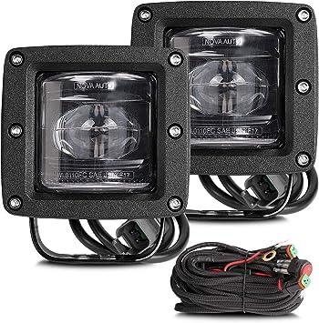 """DOT//SAE J583 3/""""in LED Fog Light Bar Kit Cube Work Pod Lamp Offroad Driving Truck"""