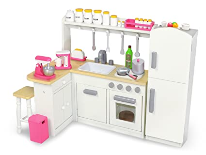 Amazon Com Playtime By Eimmie 18 Inch Doll Furniture Kitchen Set W