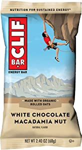 CLIF BAR - Energy Bar - White Chocolate Macadamia - (2.4 Ounce Protein Bar)