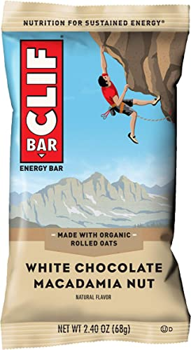 CLIF BAR – Energy Bars – White Chocolate Macadamia – 2.4 Ounce Protein Bars, 18 Count