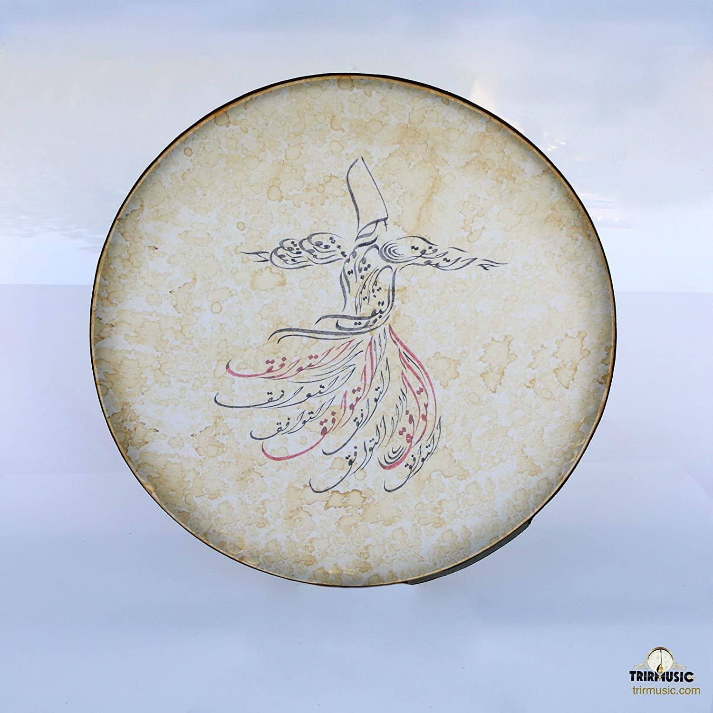 Persian B01NBC4FAC Deff, Erbane,  With Painting Soft Case  Def, Bendir Daf,