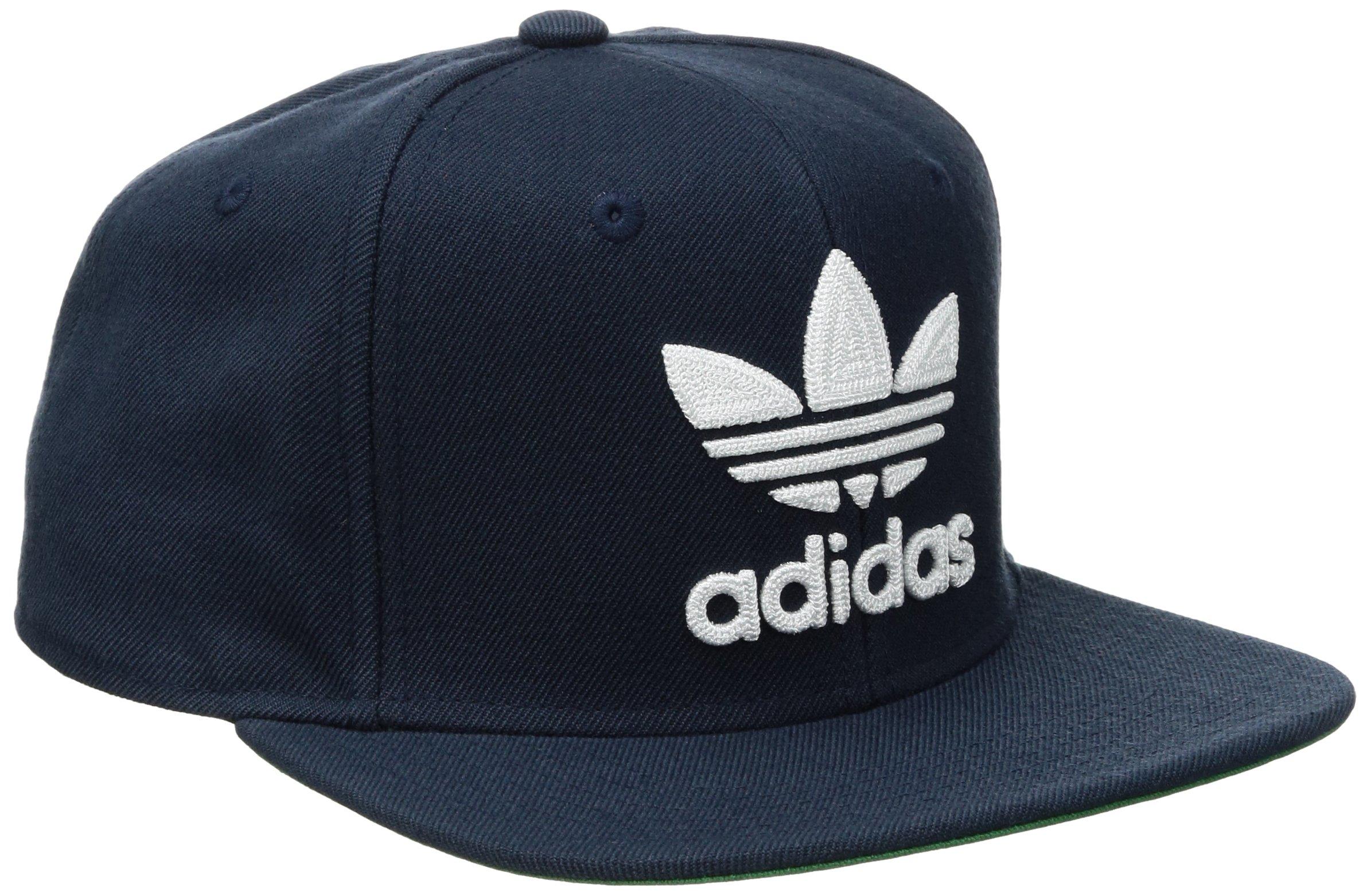 the latest 8f131 fa273 Galleon - Adidas Men s Originals Snapback Flatbrim Cap, Collegiate Navy,  One Size