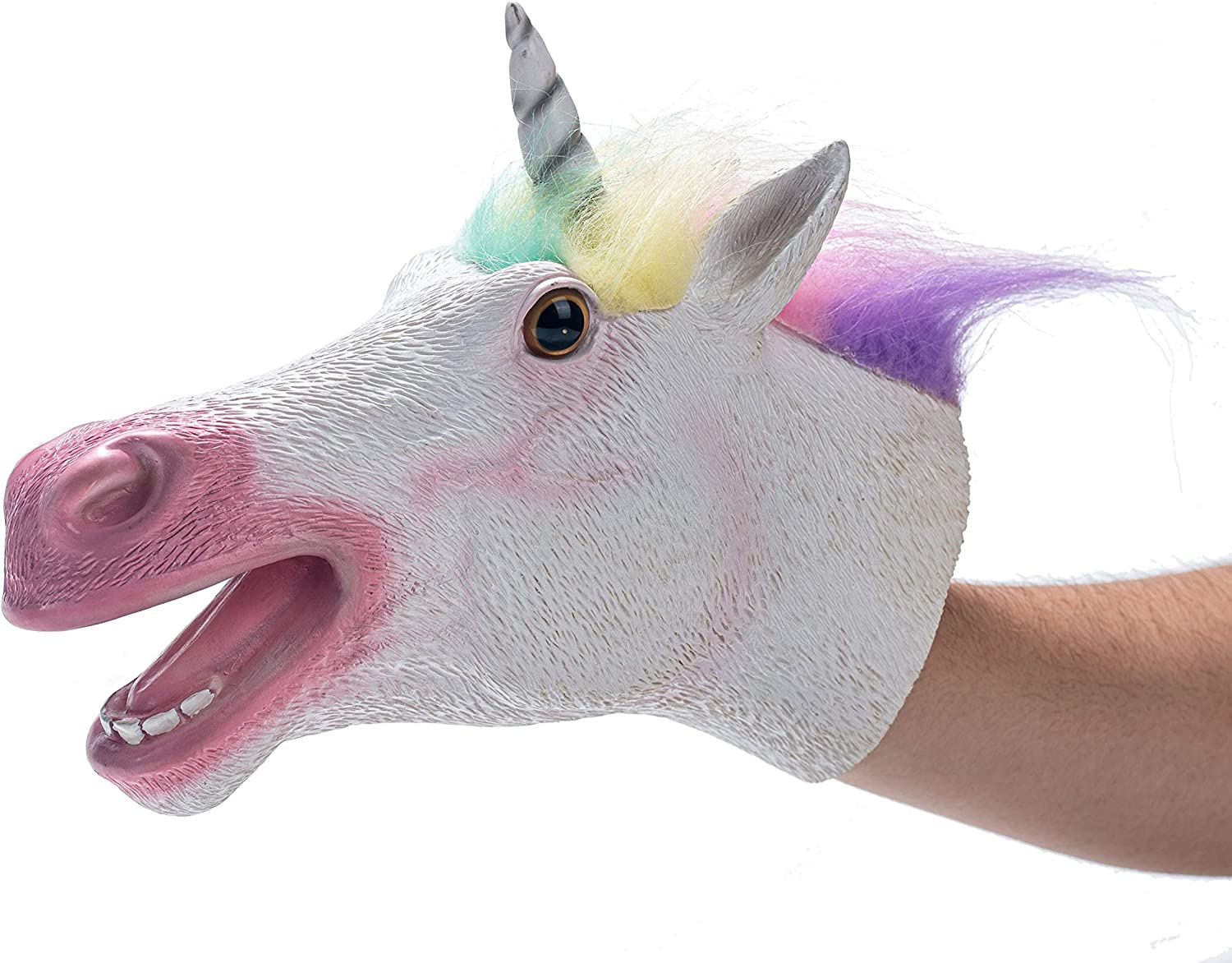 Hand Puppet Toys,Soft Rubber Realistic Animals Head