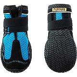 犬用靴 Mud Monsters (マッドモンスターズ) 3/XS-S ブルー 2個入り [並行輸入品]
