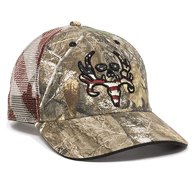 fad03db2 Image Unavailable. Image not available for. Color: Realtree Outdoor Cap Edge  American Flag Mesh Back Hat