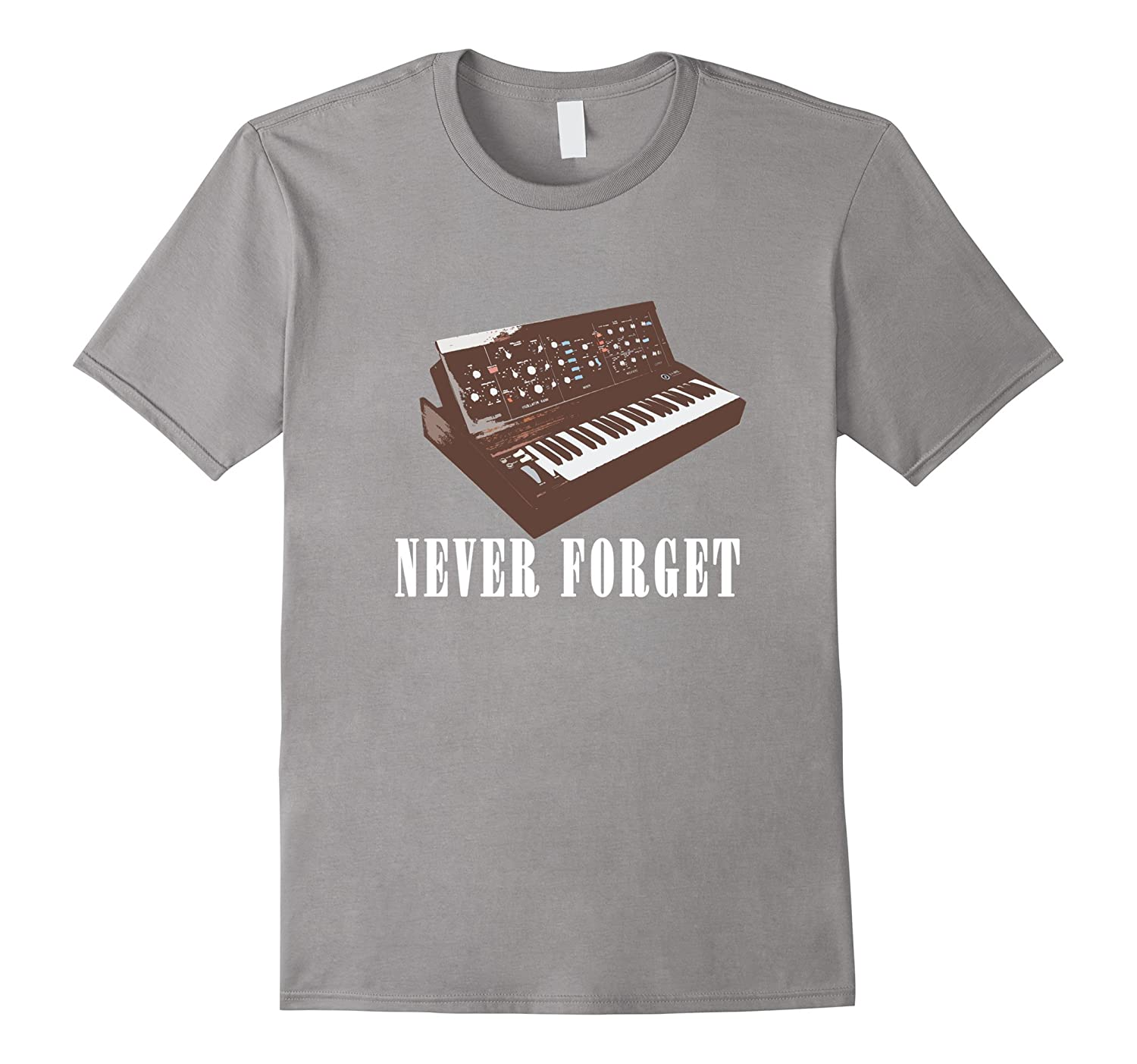 Never Forget Synthesizer - Retro Piano T-shirt design-TD