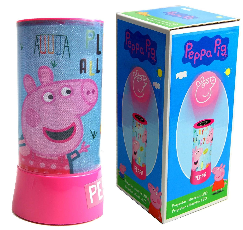 PEPPA PIG Lampara led proyector cilindrico Hogar Unisex ...