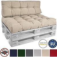 Beautissu Cojín Palet, sofá-Palet y europalet Eco Style - Cojín de Respaldo 120x40x10-20 cm : Natural - Cojín: Respaldo…