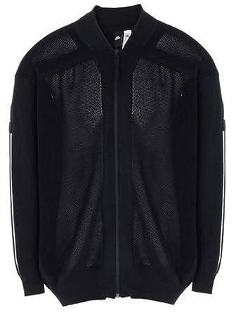 Adidas Originals hombre 's Track icono Knit chaqueta bomber, Marina, medio
