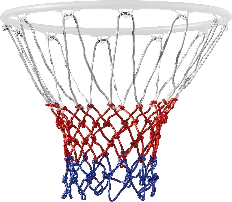 TRIXES Filet de Basket en Nylon RougeBlancBleu 12 Boucles