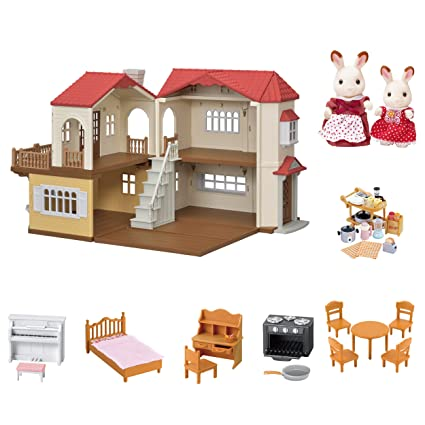 336ed330dec6 Amazon.com  Calico Critters Red Roof Country Home Gift set  Toys   Games