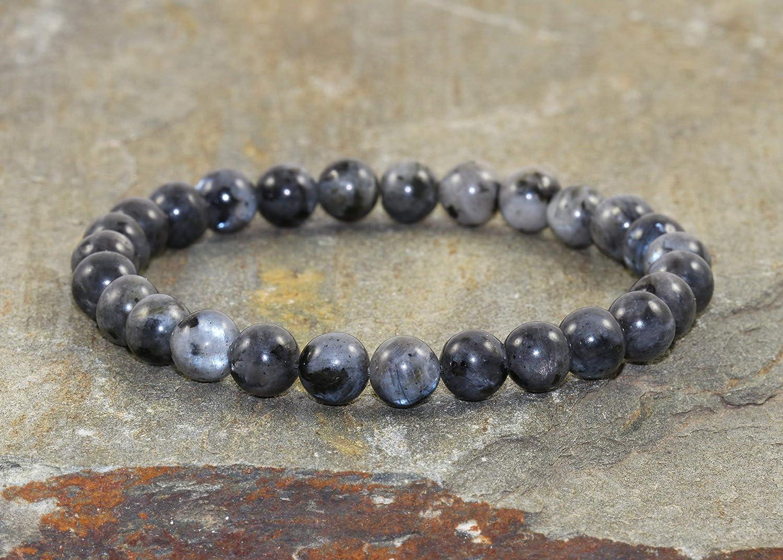 Pulsera de Labradorita Negra de 6 mm, Cuentas de Piedras preciosas Larvikita Natural, cristales de sanación, Joyería para Yoga Chakra, intuición + profundizar en nuestra espiritualidad