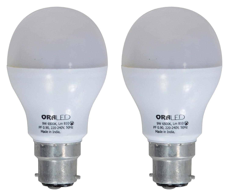 ORA 9W B22 LED Bulb (Pack of 2, Cool White) Image