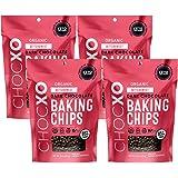 ChocXO Keto Certified Organic Dark Chocolate Baking Chips | USDA Organic, Non GMO, Certified Gluten Free, Keto Certified, Fai