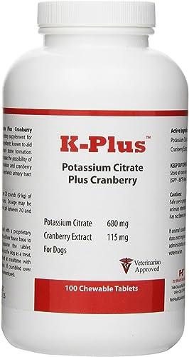 Pet Health Solutions K-Plus Potassium Citrate Plus Cranberry 100 Tabs