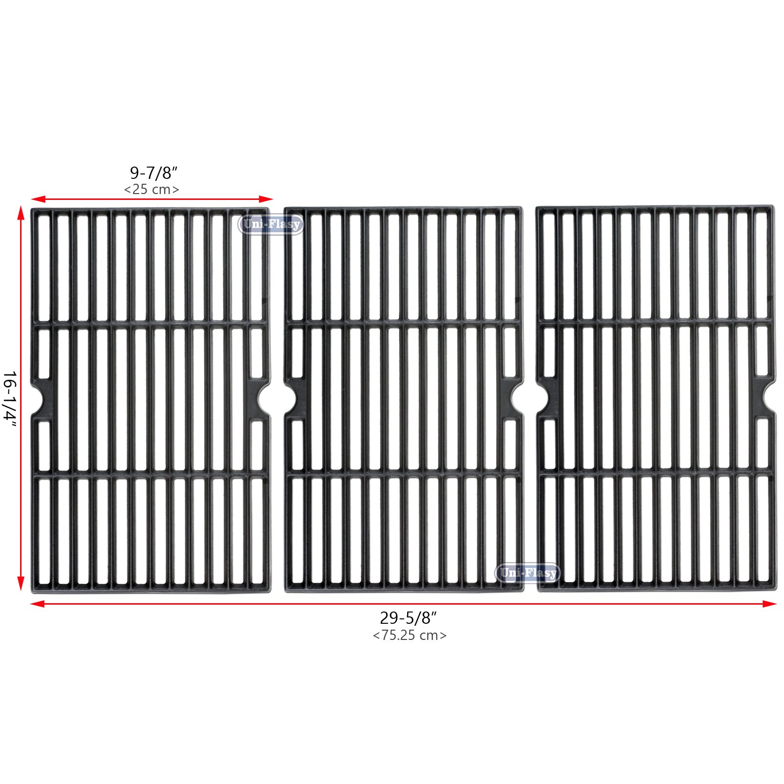 Uniflasy Matte Cast iron Grill Accessories Cooking Grid Grate Replacement Parts for Backyard BY13-101-001-13, GBC1460W, Better Homes and Gardens BH14-101-099-01, Uniflame GBC1059WB