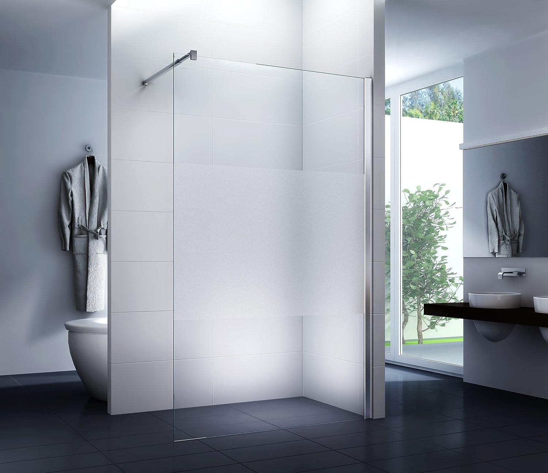 Mampara de ducha Cover 140 x 200 cm - Walk-In Cabina de ducha Ducha Vidrio de seguridad 10 mm: Amazon.es: Bricolaje y herramientas