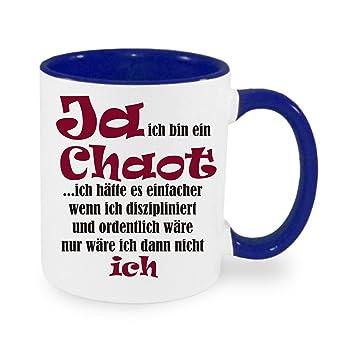 Ja Ich Bin Ein Chaot Kaffeetasse Mit Motiv Bedruckte Tasse Mit