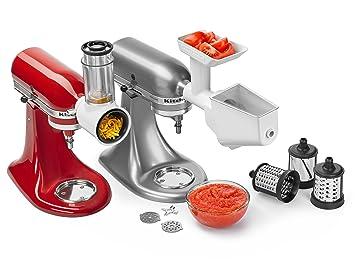 KitchenAid 5KSMFPPC Attachment set batidora y accesorio para mezclar alimentos - Accesorio procesador de alimentos (3 pieza(s)): Amazon.es: Hogar