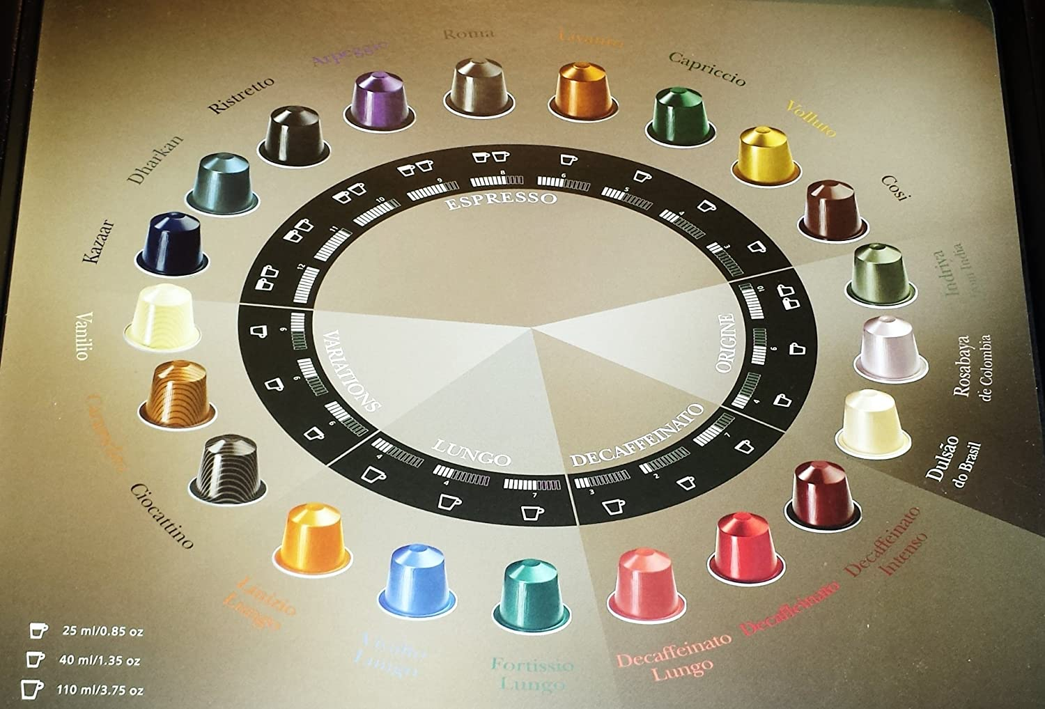 Nespresso 10 x Assorted Capsules, With Free Gift Box - Pod Holder. (Capacity 36 capsules): Amazon.es: Hogar
