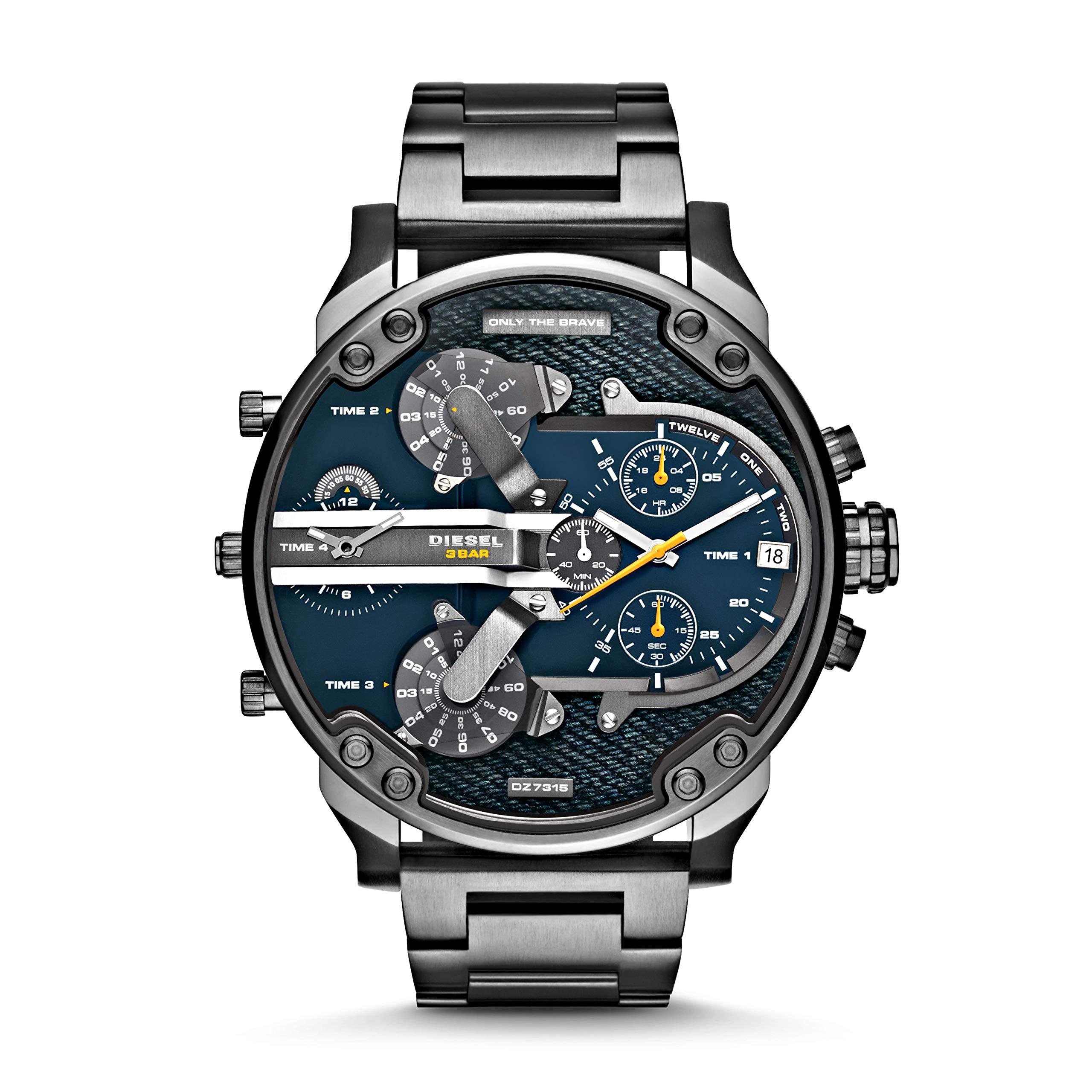 Diesel Men's DZ7331 Mr Daddy 2.0 Gunmetal-Tone Stainless Steel Watch by Diesel
