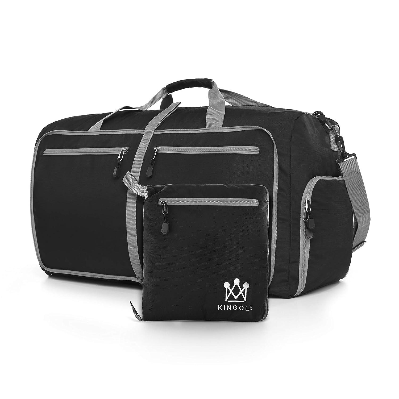 Travel Duffel Bag Foldable Lightweight For Women Men YKK Zipper Gym Carry On 27