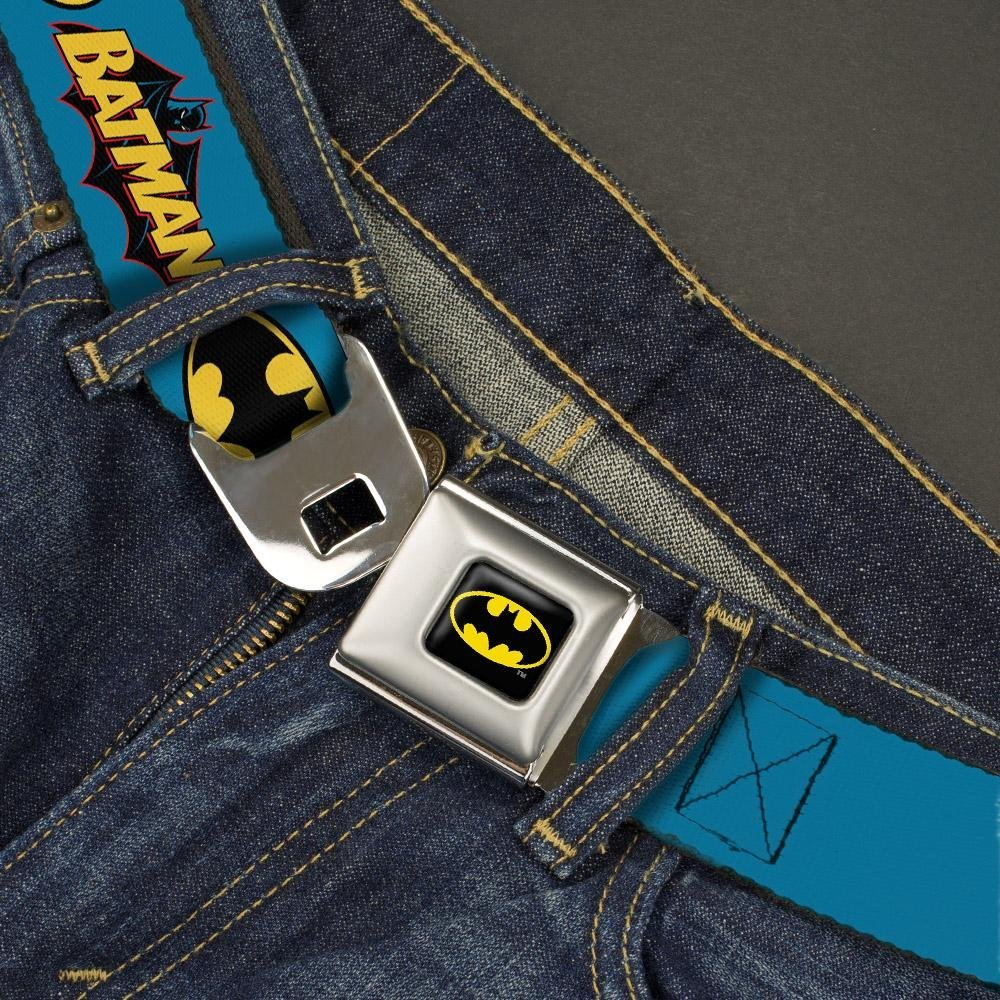 Buckle-Down Seatbelt Belt 1.0 Wide 20-36 Inches in Length Vintage Batman Logo /& Bat Signal Blue