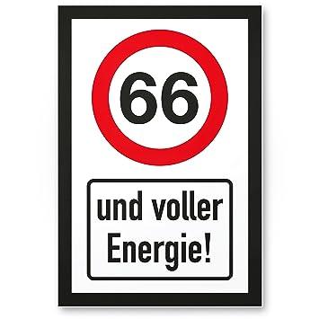 Dankedir 66 Jahre Voller Energie Kunststoff Schild Geschenk 66