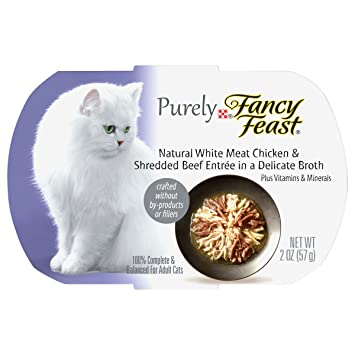 Purina Fancy Feast Fancy Feast - Apariencia para Gatos, Pollo de Carne Blanca y Carne