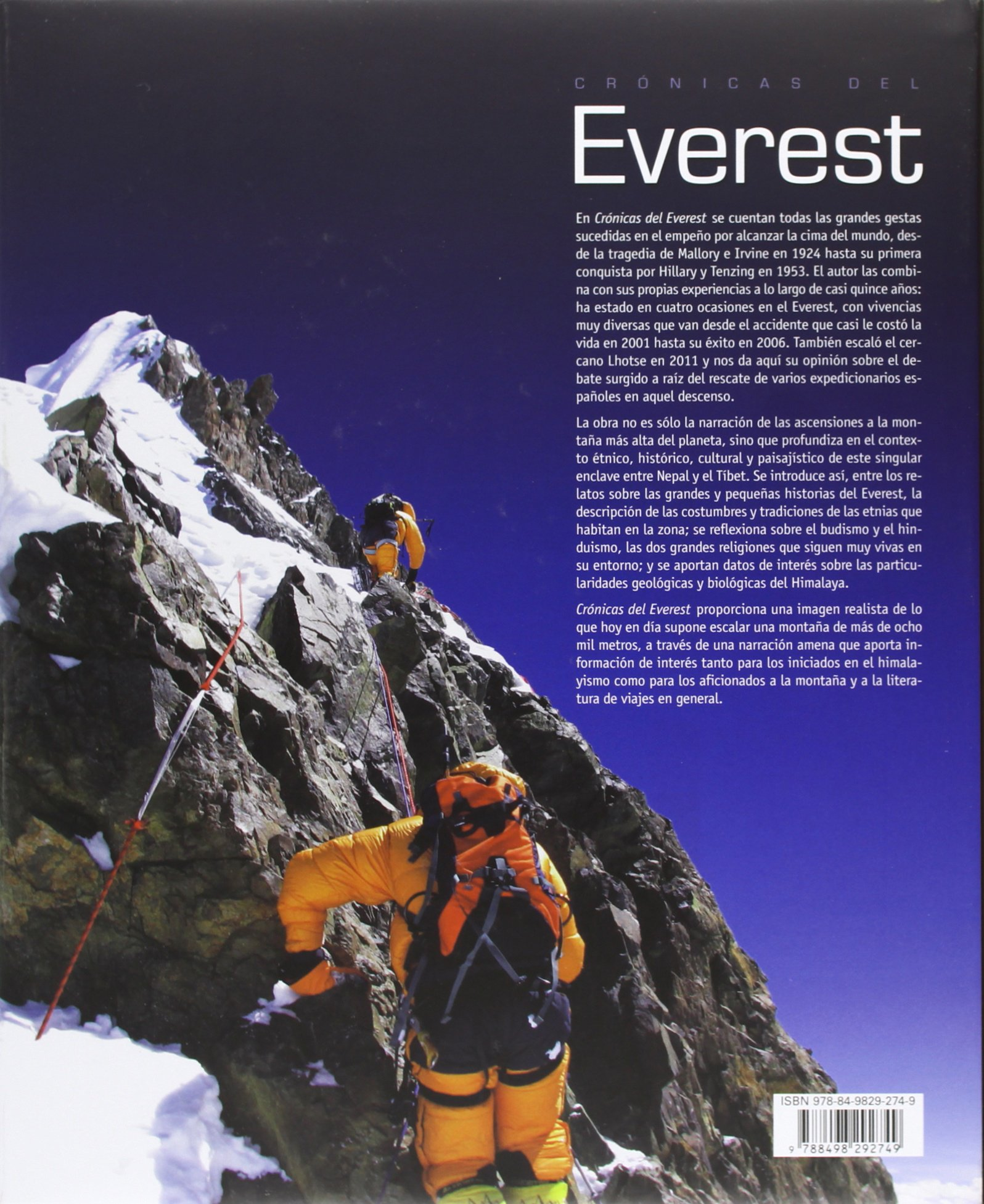 Crónicas Del Everest. Historias En La Cima Del Mundo: Amazon ...