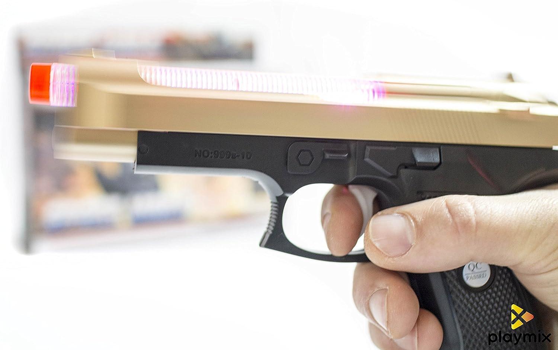 Pistola de Juguete estilo glock con movimiento luces y sonido Space Wars