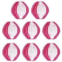 SOLUSTRE 8 bolas de lavagem removedoras de fiapos, removedor de pelos e roupas reutilizáveis para máquina de lavar