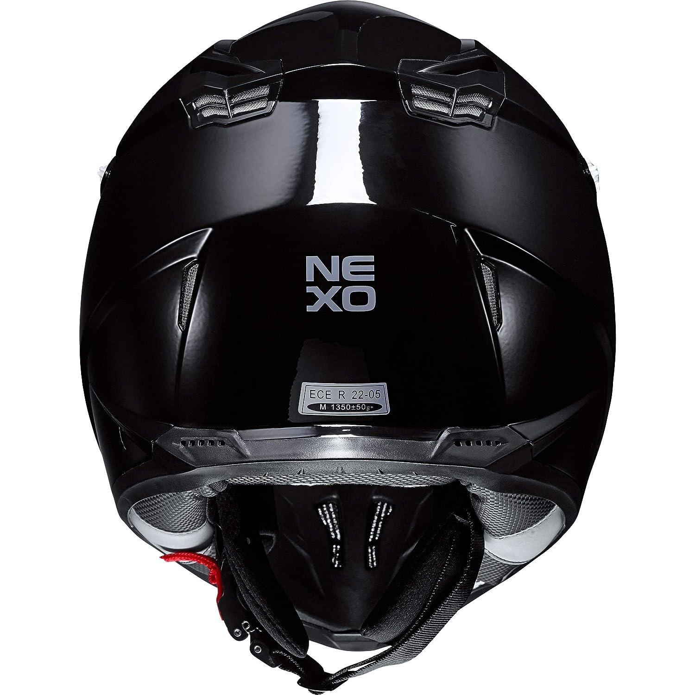 Thermoplast Crosshelm Nexo Motorradhelm Ganzj/ährig Motocrosshelm MX-Line Crosshelm II schwarz L Unisex Cross//Offroad