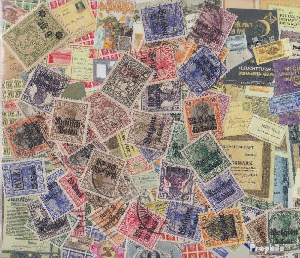 forma única Prophila Collection alemán. alemán. alemán. Besetzung en 1. Guerra Mundial 75 Diferentes Sellos (Sellos para los coleccionistas)  venderse como panqueques