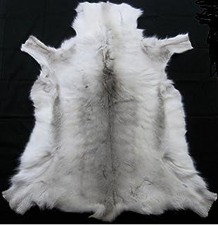 Genuine Real Reindeer Hide LARGE (Light Markings)   125cm 140cm Length