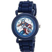 MARVEL Boys Avenger Analog-Quartz Watch with Nylon Strap, Blue, 20 (Model: WMA000233)