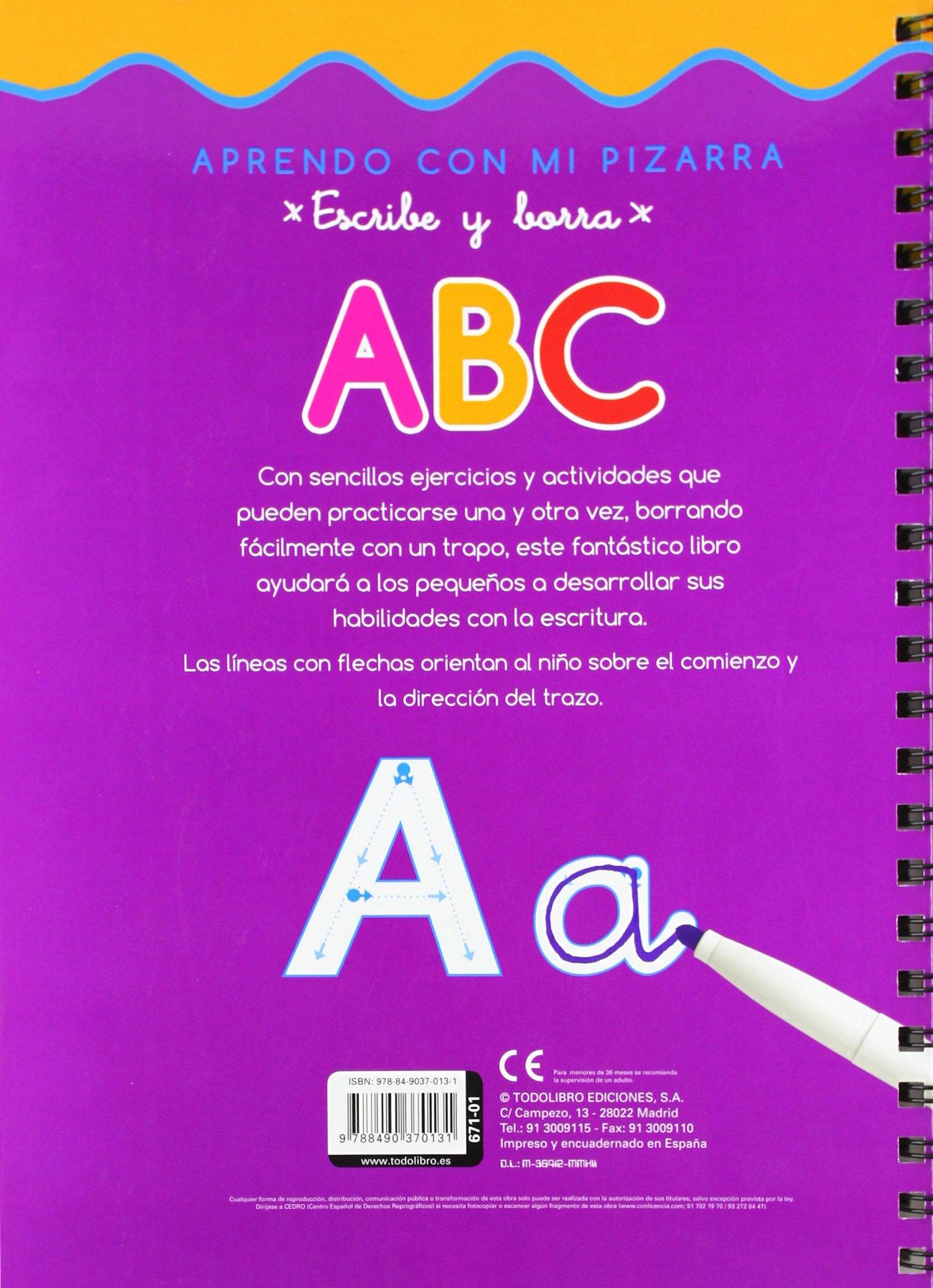Escribe y borra letras ABC: Equipo Todolibro: 9788490370131 ...