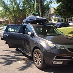 Amazoncom Thule B Sonic Cargo Box M BlackMedium Sports - Acura tl roof rack