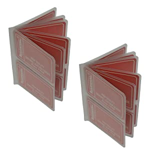 Set of 2 Heavy Duty Vinyl 6 Pages Hipster Wallet Inserts for Mens Wallets MADE IN USA