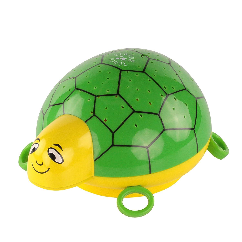ANSMANN Sternenlicht Projektor - Schildkröte Nachtlicht mit Musik & Sternenhimmel Projektor ideal als Einschlafhilfe für Baby & Kinder - LED Schlummerlicht mit Farbwechsel als Kinderzimmer Deko ANSMANN AG 1800-0002